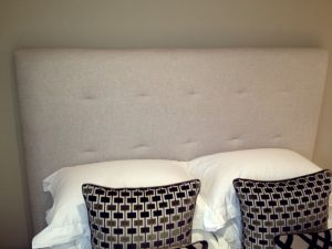 Cream Bed Headboard Material Concepts