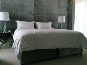 Grey Wall Mounted Headboard Material Concepts