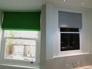 Made to Measure Bathroom Roman Blinds - Material Concepts Battersea