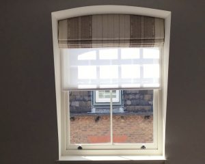 Made to Measure Rounded Roman Blinds - Material Concepts Battersea