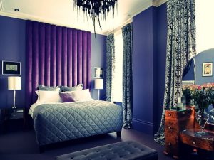 Purple Vertical Headboard - Material Concepts Battersea