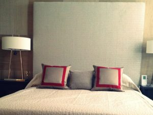 Tall Headboard Fitted by Material Concepts in Battersea