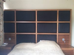 Wooden Padded Headboard Material Concepts Battersea