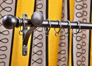 Bespoke Curtains and Classic Poles by Material Concepts