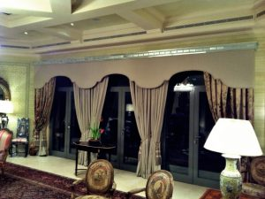 Bespoke drapes by Material Concepts
